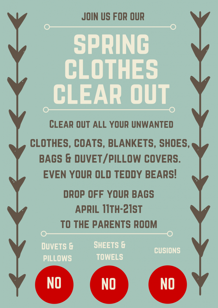 spring clothes clear out